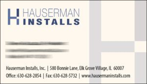 Hauserman Installs Business Cards