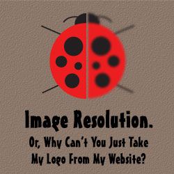 Image Resolution. Or, Can You Just Take My Logo From My Website?