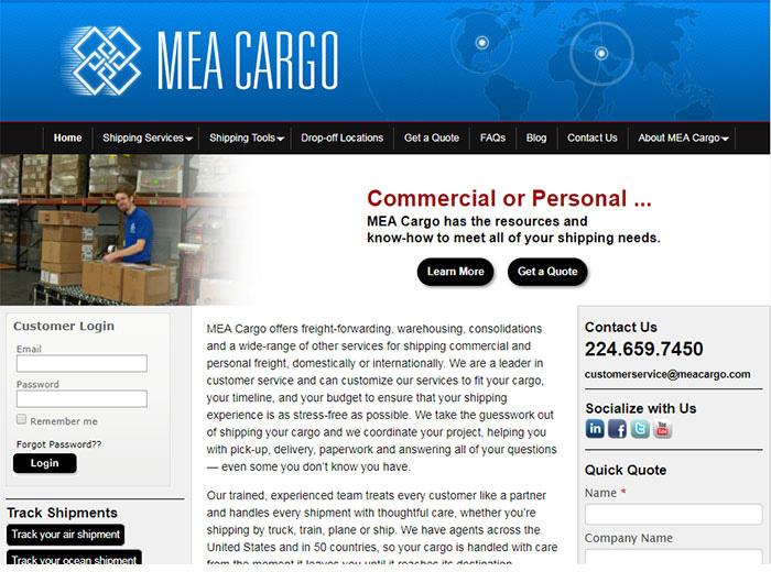 MEA Cargo Website
