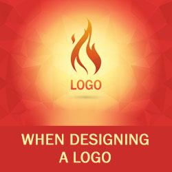 When designing a logo…