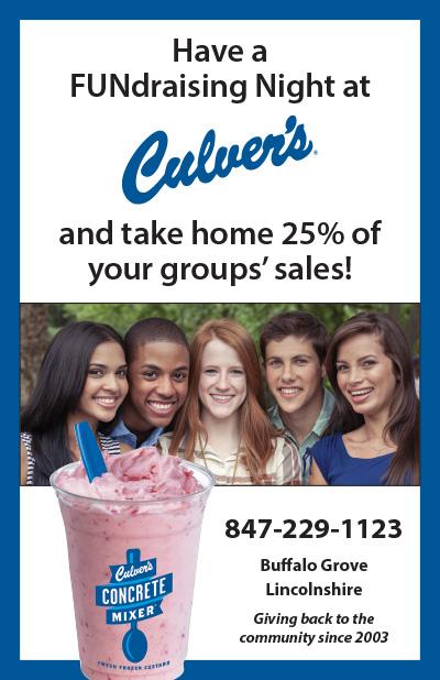 Culver's Fundraising Flyer