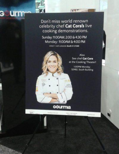 Chef Cat Cora Poster for Gourmia